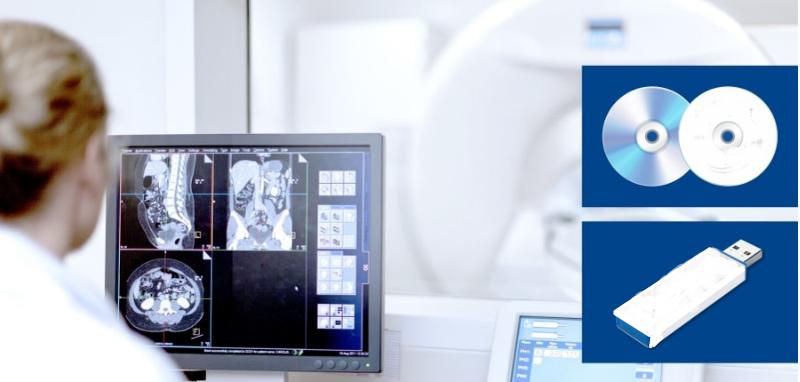 Снимки МРТ записывают на диск или другой носитель